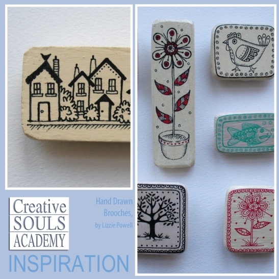 Creative Souls Academy Inspiring Hand Painted Brooches